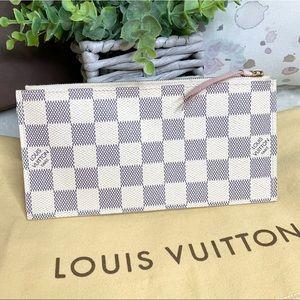 Louis Vuitton Damier Azur Zipper Pouch / Clutch